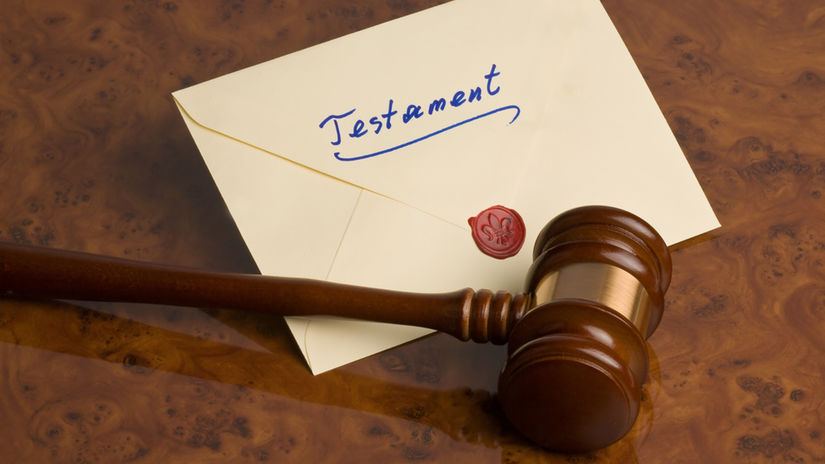 dedičstvo, závet, testament