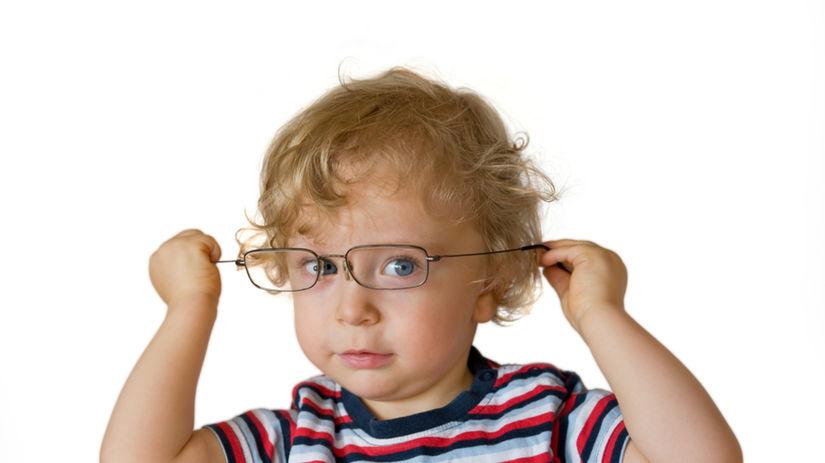 dieťa, oči, oko, okuliare, zrak