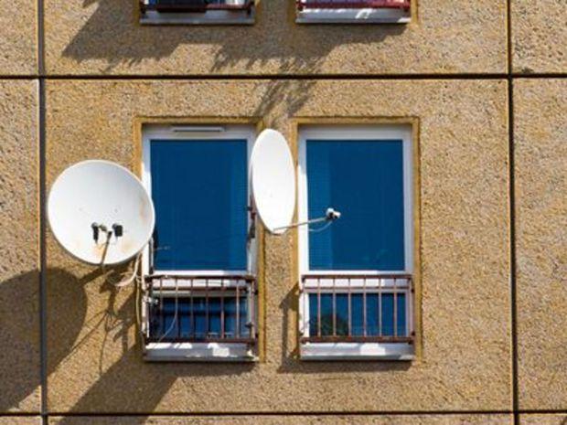 Satelity, dom, tanier, TV