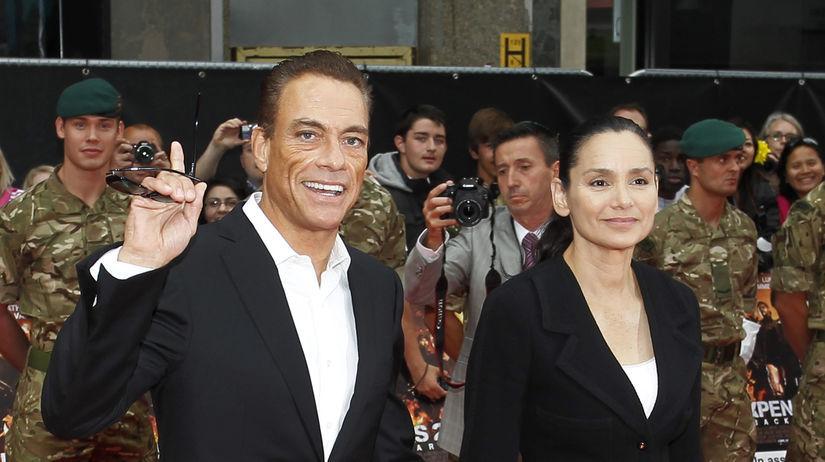 Jean-Claude Van Damme a jeho manželka Gladys...