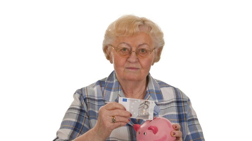 dôchodok, dôchodkyňa, úspory, penzia, peniaze,...