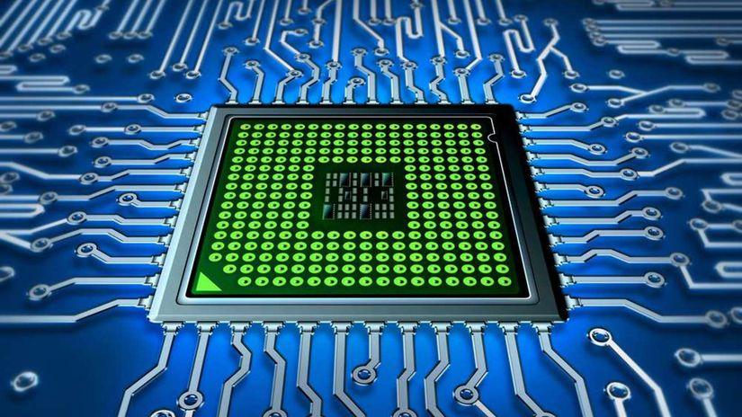 elektrony, procesor, obvody, zaklada doska,...