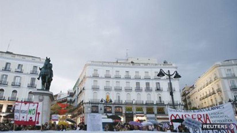 EuroVegas, protest, Madrid