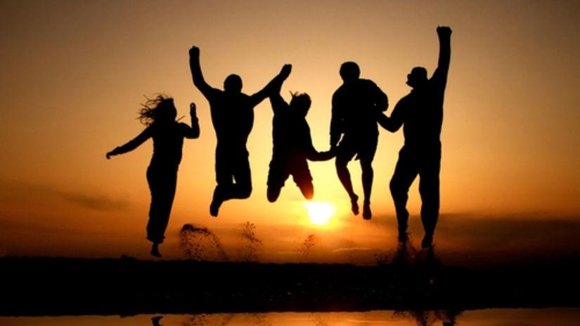 kamaráti, priatelia, mladí, ľudia, slnko,...
