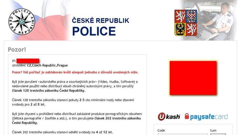 trójsky kôň, malvér, Česká polícia