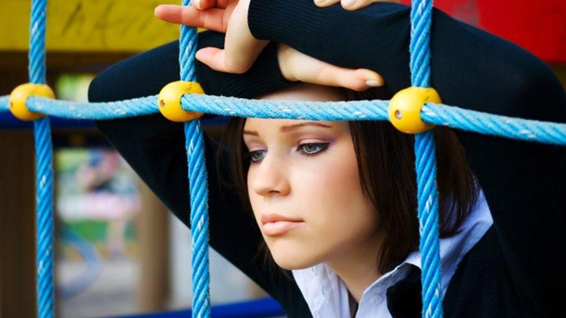žena, bolesť, choroba, smútok, depresia, samota