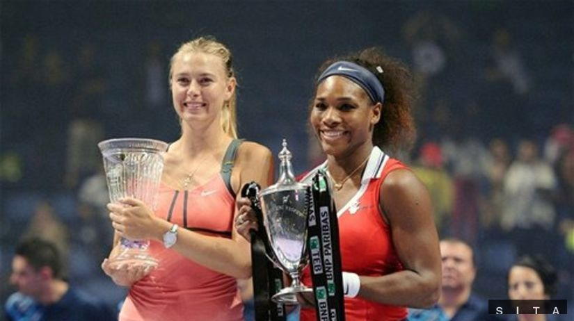 Maria Šarapovová a Serena Williamsová