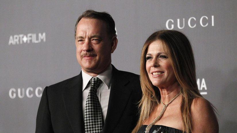 Tom Hanks a jeho manželka Rita Wilson