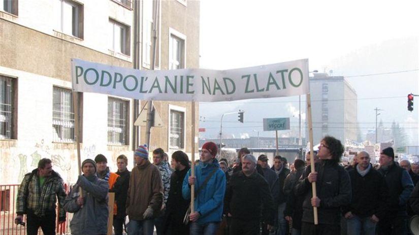 Banská Bystrica, Protest, zlato