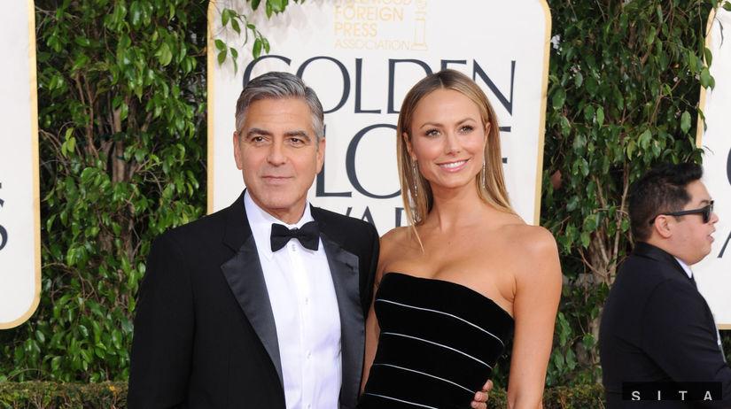 George Clooney a jeho priateľka Stacy Keibler