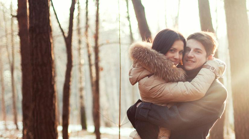 objatie, láska, pár, milenci