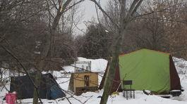 bezdomovci, petržalka, zima