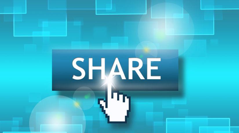 zdieľať, sociálna sieť, share, osobné údaje,...