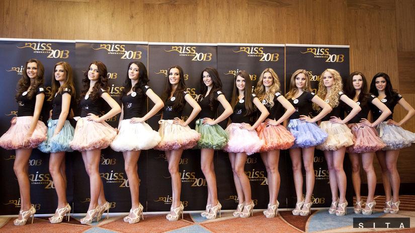 Finalistky súťaže Miss Slovensko 2013.