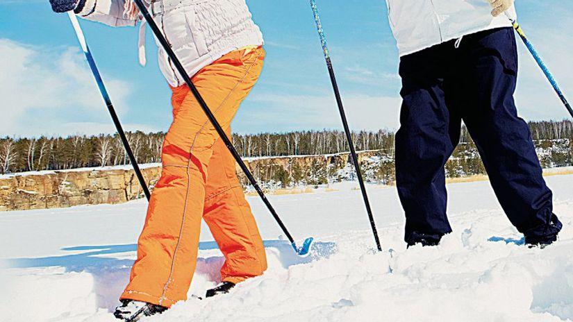 výlet, bežky, túra, snhe, zima, šport