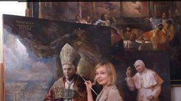 portrétistka, pápež, Natalia Carkovova