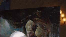 portrétistka, pápež, Natalia Carkovova, obrazy