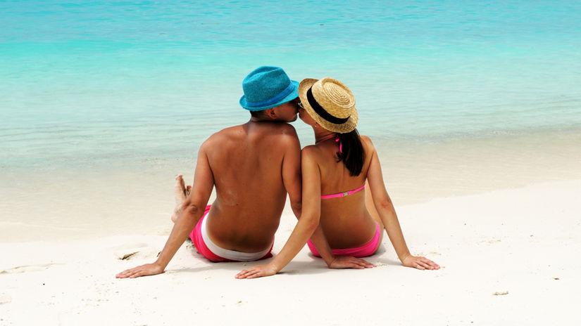 bozk, láska, vzťah, pláž, dovolenka