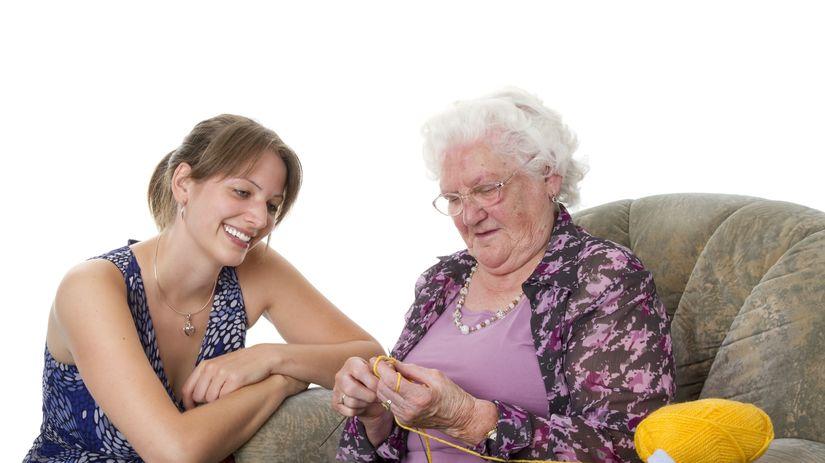 stará mama, rodina, pletenie, voľný čas
