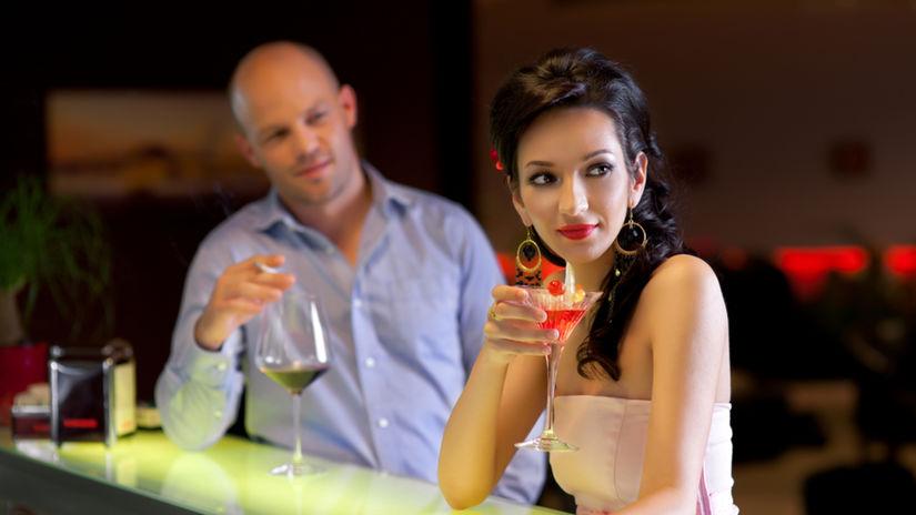 flirt, stretnutie, vzťah, bar