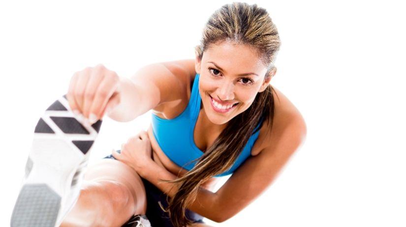 žena, šport, rozcvička, pohyb, fitness