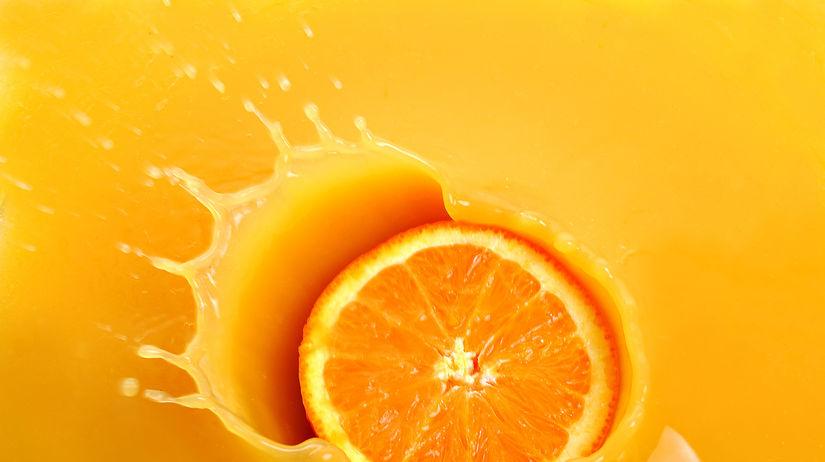 pomaranč, šťava, džús