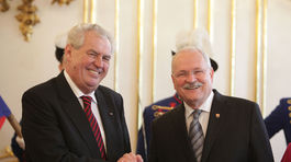 Miloš Zeman, oficiálna návšteva, Gašparovič