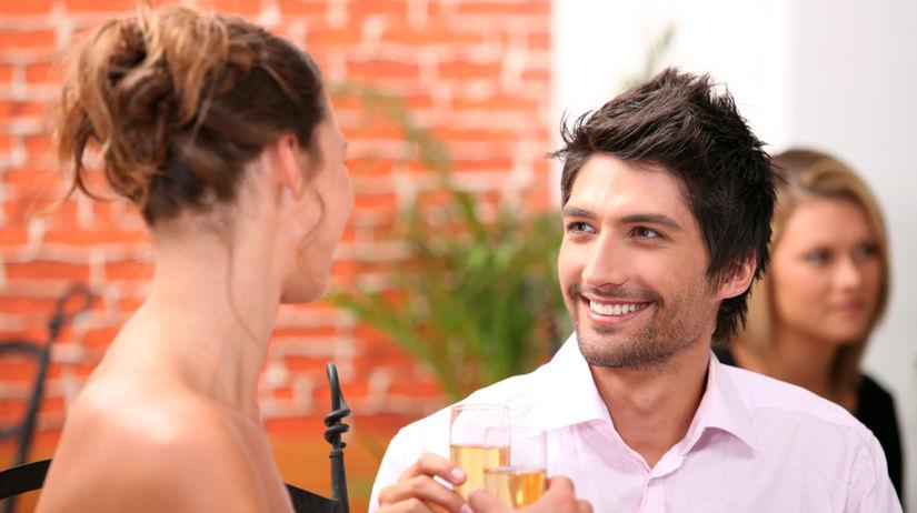 pár, rande, večera, párty, muž a žena