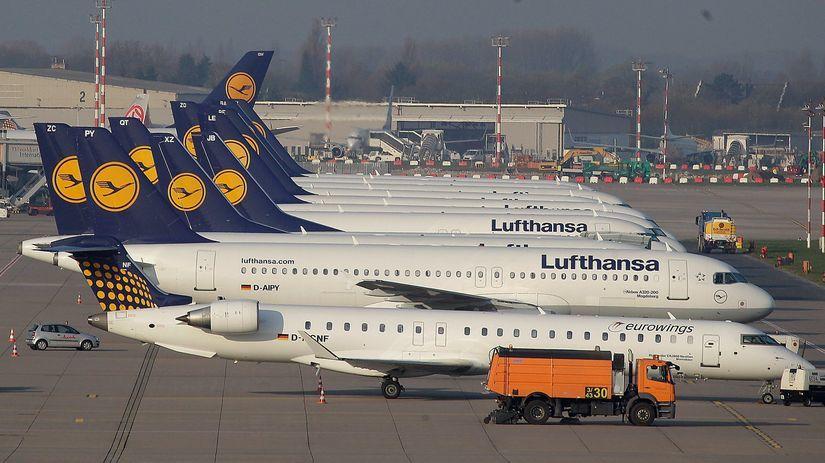 Lufthansa, lietadlá, štrajk, lietadlo