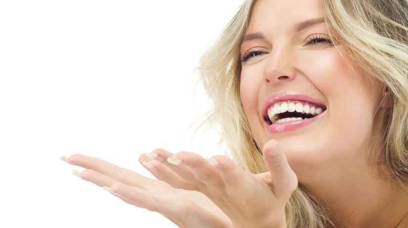 žena, radosť, úsmev, krása