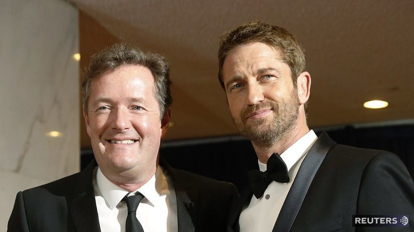 Piers Morgan (vľavo) a herec Gerard Butler