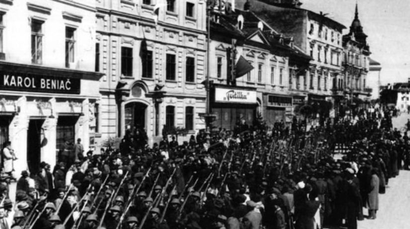 defile, oslobodenie, rumuni, Banska Bystrica