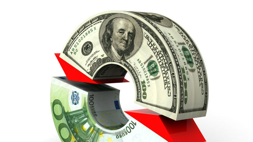 Dolár, euro, graf, ekonomika, peniaze