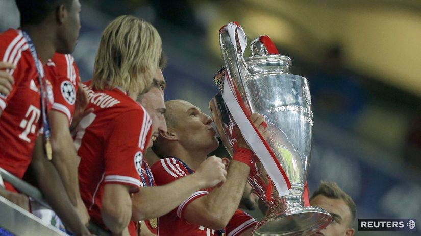 Robben, trofej, radosť