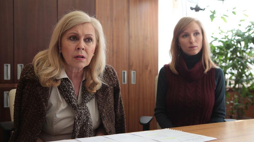 Marta Sládečková (vľavo) Réka Gombár Derzsi