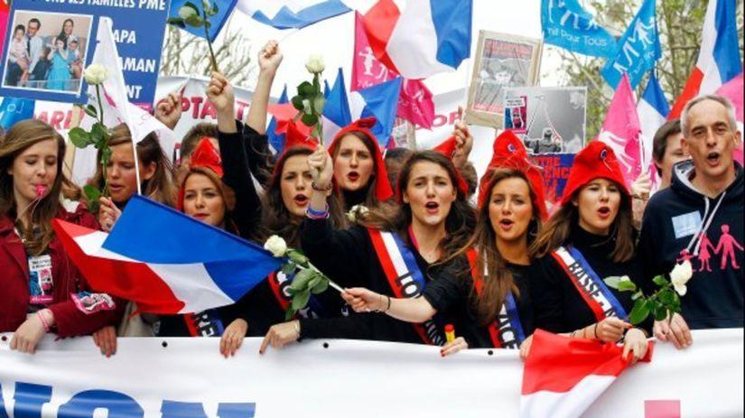 Paríž, protest proti sobášom homosexuálov