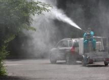 postrek proti komárom,Dlhé Diely,komáre
