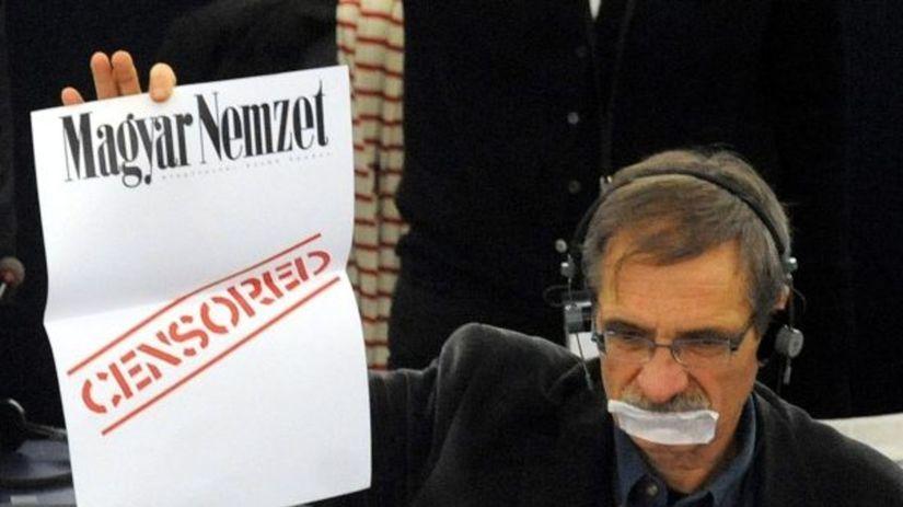 Maďari, europoslanci, cenzúra