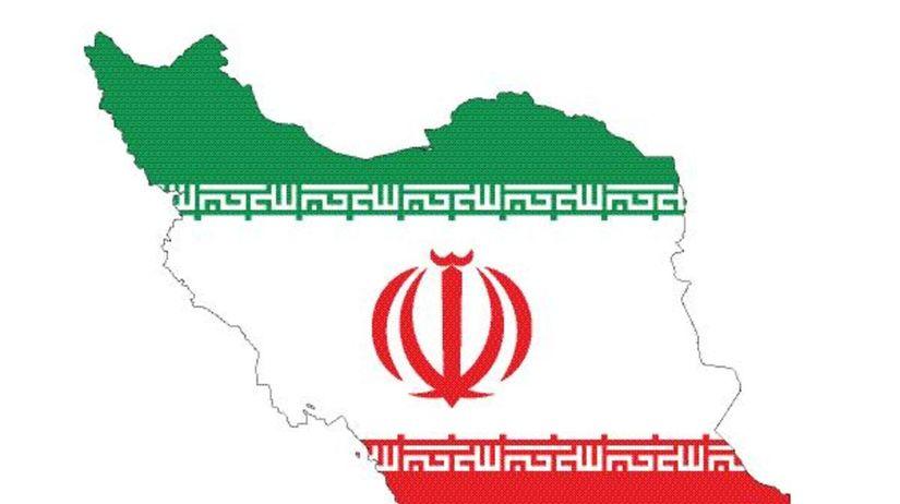 irán, mapa, znak
