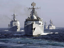 Čína, Rusko, lode, vojenské cvičenie