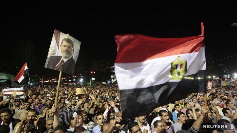egypt, Moslimské bratstvo, demonštrácia