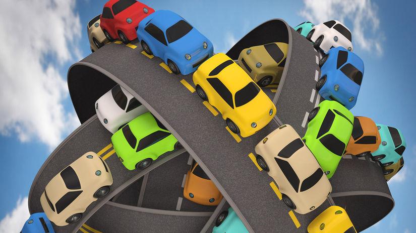 Cesta, cesty, doprava, diaľnica, zápcha, auto,...