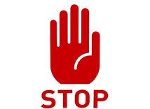 Stop, stopka, zastavenie, zákaz, graf