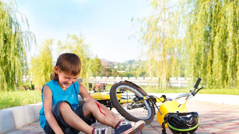 úraz - dieťa - bicykel - pád