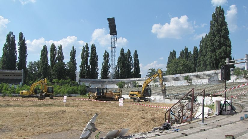 štadión, Tehelné pole, búranie, Bratislava