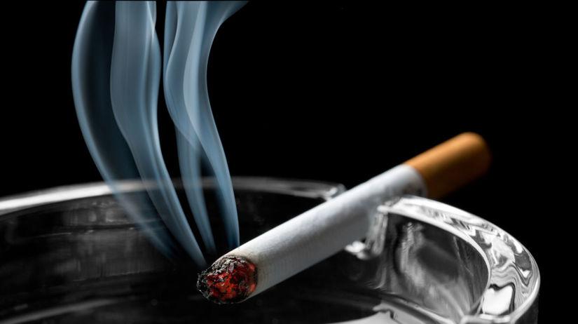 cigareta, fajčenie, nikotín, dym, popolník