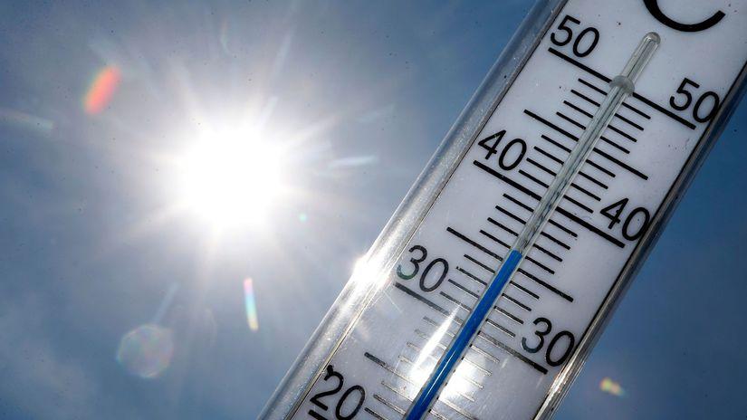 počasie, horúčava, leto, teplomer