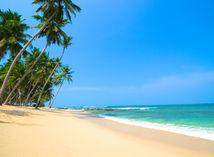 piesok, pláž, more, palma, dovolenka, leto, prázdniny
