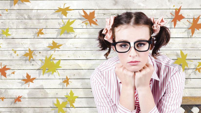 introvert, jeseň, okuliare, smútok, nuda,...