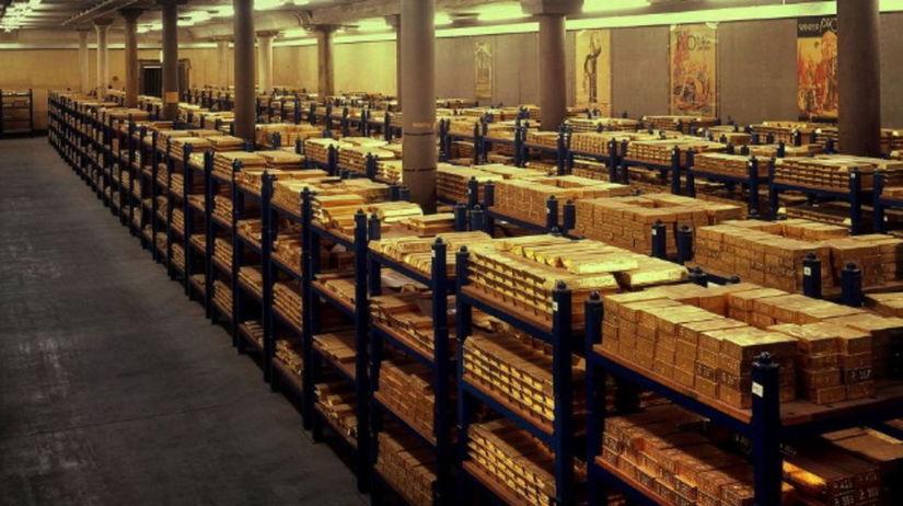 zlato, britská centrálna banka